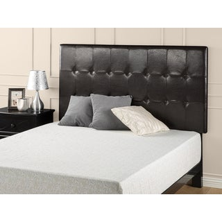 Priage Faux Leather Square Tufted Headboard Full/Queen Espresso
