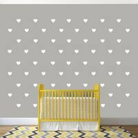 Set of Hearts Wall Decals