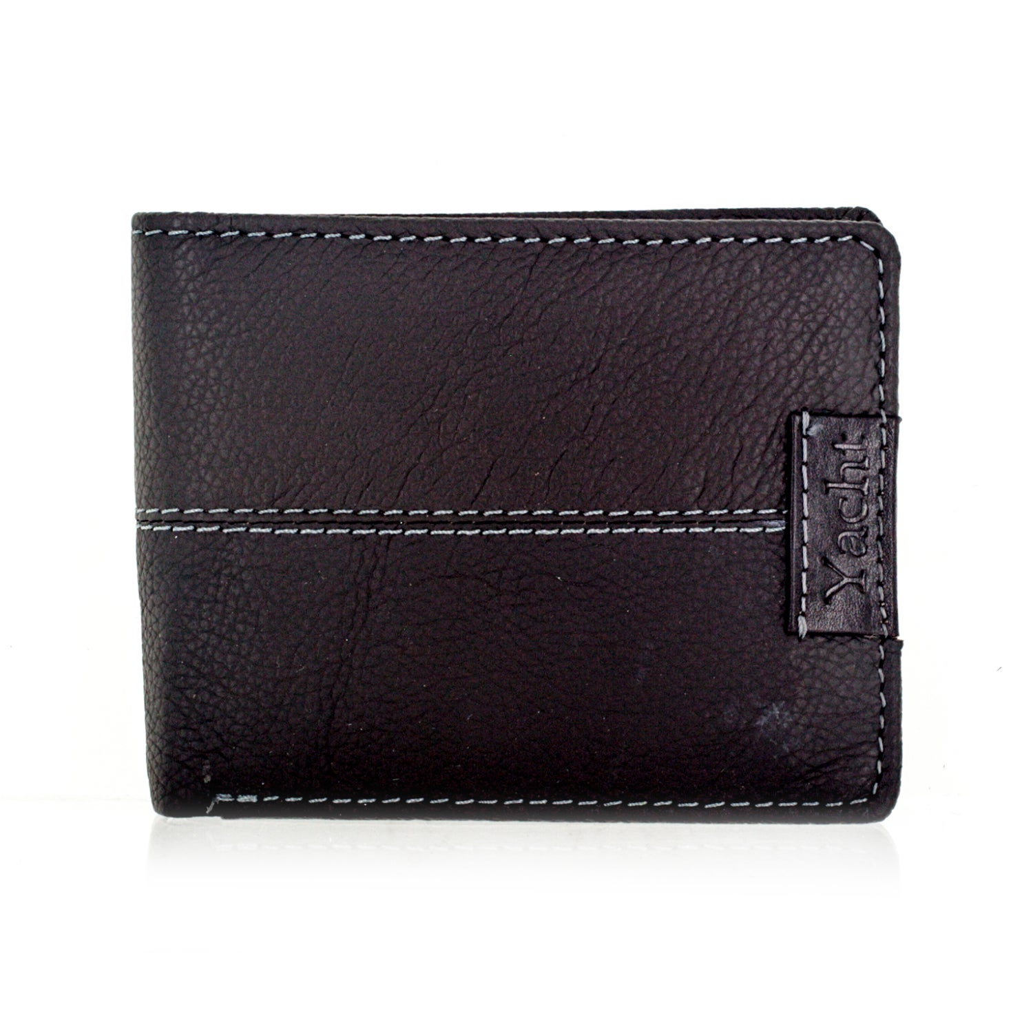 Faddism Yacht Series Men's Dark Brown Leather Bifold Wall...