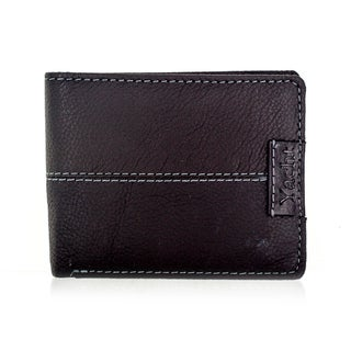 Faddism YACHT Series Men's Dark Brown Leather Bifold Wallet
