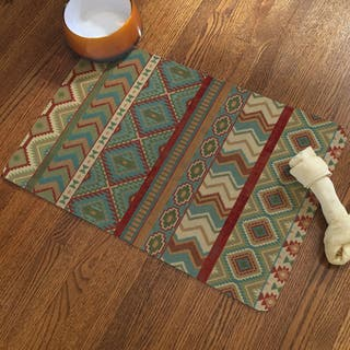 Laural Home Sage Print Pet Mat|https://ak1.ostkcdn.com/images/products/11724801/P18644461.jpg?impolicy=medium