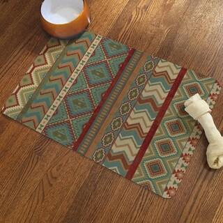 Laural Home Sage Print Pet Mat