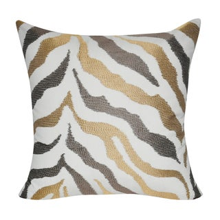 Loom and Mill 21 x 21-inch Zebra Decorative Pillow