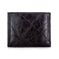 Faddism YL Series Men's Brown Leather Tonal Stitching Bifold Wallet