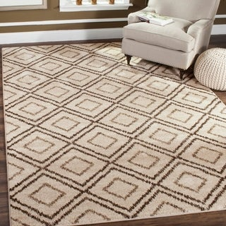 Safavieh Tunisia Cream/ Brown Rug (6' 7 x 9' 2)