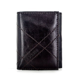 Faddism YL Series Men's Brown Leather Trifold Wallet