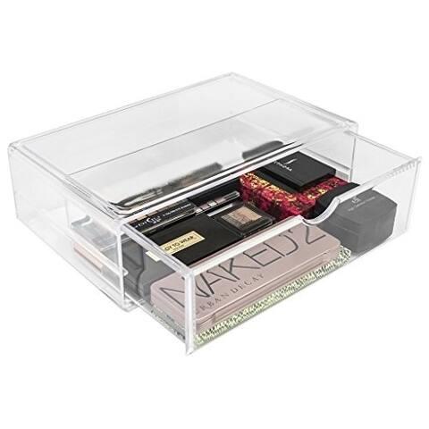 Sorbus Makeup Storage Case X-Large Display Sets with Interlocking Drawers