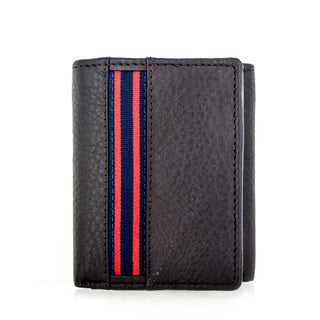 Faddism YL Series Men's Dark Brown Leather Trifold Wallet