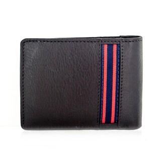 Faddism YL Series Men's Dark Brown Leather Bifold Wallet
