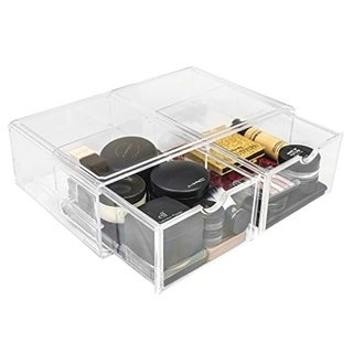 Acrylic X-Large 2 Drawer Makeup Organizer