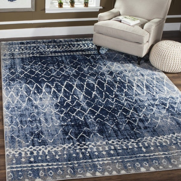 Safavieh Tunisia Light Blue Cream Rug 6 7 X 9 2