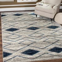 "Safavieh Tunisia Light Grey/ Blue Rug - 5'1"" x 7'6"""