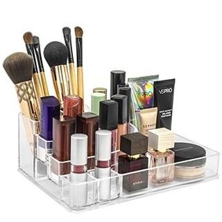 Acrylic Sectional Medium Round Makeup Organizer