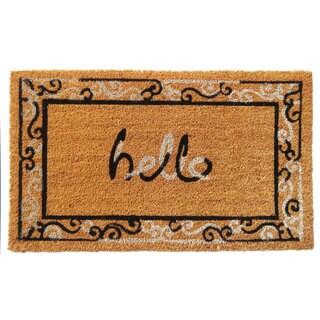 'Hello' Coir Doormat