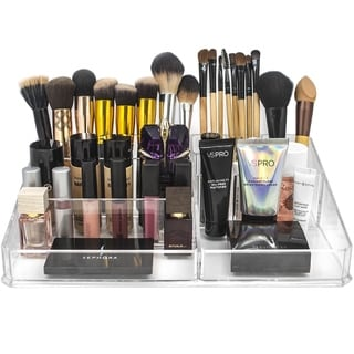 Acrylic X-Large Square Sectional Makeup Organizer