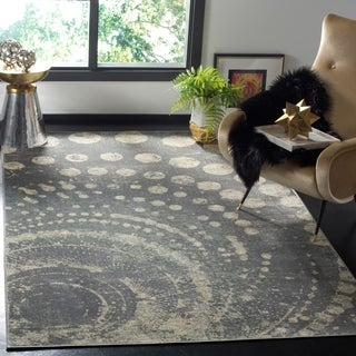 Safavieh Constellation Vintage Light Grey/ Multi Viscose Rug (5' 3 x 7' 6)