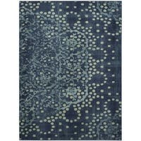 "Safavieh Constellation Vintage Blue/ Multi Viscose Rug - 6'7"" x 9'2"""