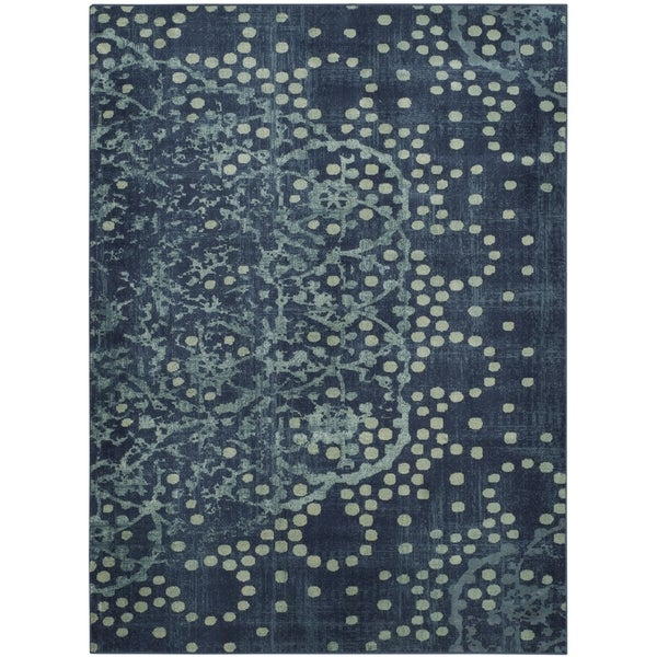 Safavieh Constellation Vintage Blue/ Multi Viscose Rug - 6' 7 x 9' 2