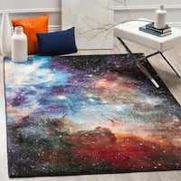 Safavieh Galaxy Watercolor Vintage Purple/ Multi Rug - 5' x 8'