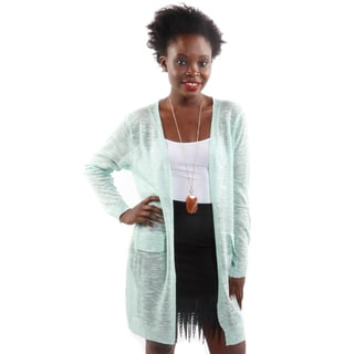 Hadari Women's Open Front Long Sleeve Knit Cardigan (One Size)