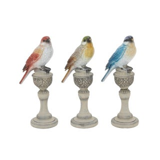Cute Ps Set Of Three Bird On Stand