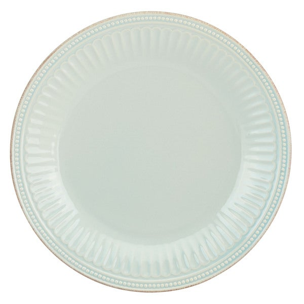 Lenox French Perle Groove Ice Blue Dinner Plate  sc 1 st  Overstock.com & Lenox French Perle Groove Ice Blue Dinner Plate - Free Shipping On ...