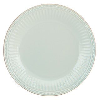 Lenox French Perle Groove Ice Blue Dinner Plate