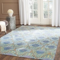 Safavieh Valencia Lavender/ Gold Distressed Silky Polyester Rug - 6' x 9'