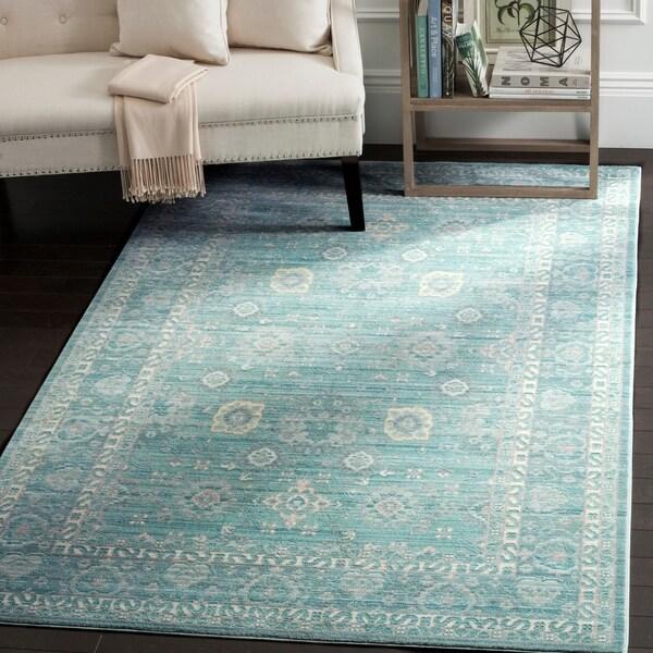 Safavieh Valencia Alpine/ Multi Distressed Silky Polyester Rug - 6' x 9'