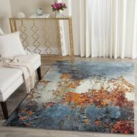 Safavieh Glacier Abstract Watercolor Blue/ Multi Area Rug - 5' x 8'
