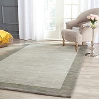 Safavieh Handmade Himalaya Light Grey/ Dark Grey Wool Gabbeh Rug - 5' x 8'