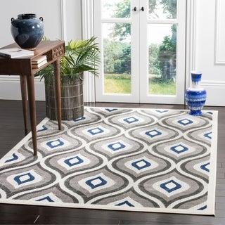 Safavieh Cottage Grey/ Royal Rug (6' 7 x 9' 6)