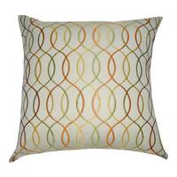 Loom and Mill 20 x 20-inch Wavy Decorative Throw Pillow