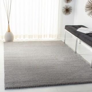 Safavieh Velvet Shag Light Grey Polyester Rug (5' 1 x 7' 6)