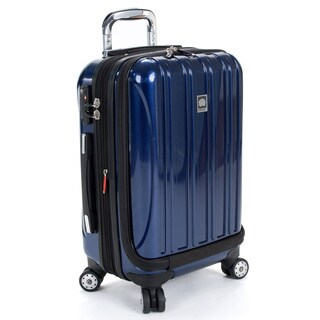 DELSEY Paris Helium Aero Cobalt Blue 19-inch International Carry-On Laptop Spinner Suitcase