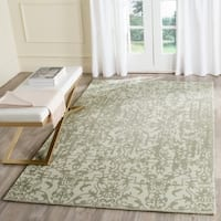 Safavieh Handmade Restoration Vintage Light Sage/ Grey Wool Distressed Area Rug - 5' x 8'