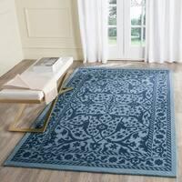 Safavieh Handmade Restoration Vintage Blue/ Dark Blue Wool Rug - 5' x 8'