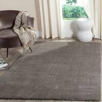 Safavieh Velvet Shag Grey Polyester Rug - 5' 1 x 7' 6