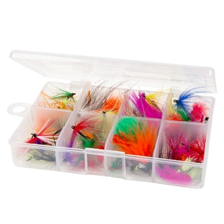 Wakeman Outdoors Assorted Dry Fly Fishing Flies - 50-piece