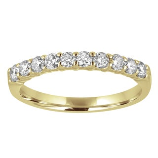 14k Yellow Gold 1/2ct TDW Diamond Wedding Band - White H-I