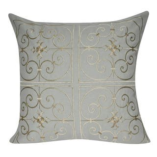 Loom and Mill 21 x 21-inch Iron Work Decorative Throw Pillow|https://ak1.ostkcdn.com/images/products/11725150/P18644805.jpg?impolicy=medium
