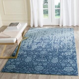 Safavieh Handmade Restoration Vintage Blue/ Dark Blue Wool Distressed Rug (5' x 8')