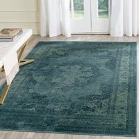 Safavieh Vintage Oriental Blue/ Multi Distressed Silky Viscose Rug - 5' 3 x 7' 6