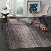 Safavieh Vintage Charcoal/ Multi Abstract Distressed Silky Viscose Rug - 6' 7 x 9' 2