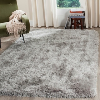 Safavieh Hand-Tufted Shag Silver Polyester Rug (5' x 8')