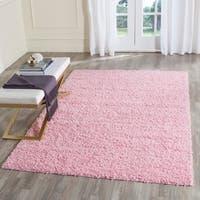 Safavieh Athens Shag Pink Area Rug - 6' x 9'