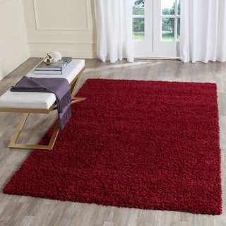 Safavieh Athens Shag Red Area Rug (5' 1 x 7' 6)