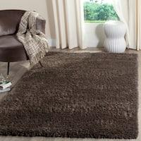 Safavieh Indie Shag Dark Grey Polyester Rug - 5'1 x 7'6