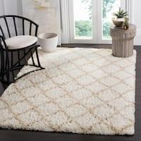 Safavieh Indie Shag Trellis Ivory/ Light Beige Polyester Rug (5' 1 x 7' 6)