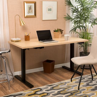 Wendell 58-inch Adjustable Wood Standing Desk with Dual Powered Base by Christopher Knight Home